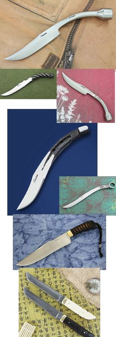 Perry Pearce zajmuje się wyrobem noży od 25 lat. To rodzinna tradycja, którą kontynuuje jego wnuk. Cechą charakterystyczną ich warsztatu jest używanie starych części, które łączą z najwyższej jakości stalą. Najczęściej używają kluczy, podków i szpil łączących torowiska http://www.eksmagazyn.pl/design/cos-na-rzeczy/noze-hand-made || #knife #design