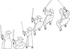 My attempt on doing a little animation of Samurai Jack! Character Model Sheet, Character Poses, Game Character Design, Character Design Animation, Character Design References, Jump Animation, Animation Sketches, Animation Reference, Samurai Jack
