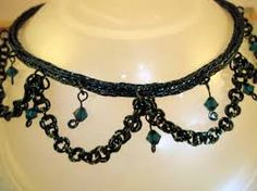Image result for chainmaille and crystal jewellery