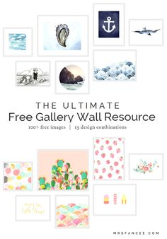 Ultimate Free Gallery Wall Resource  |  Mrs. Fancee