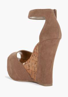 Carissa Faux Suede Wedge Sandal 2