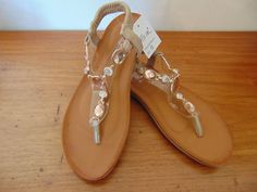 134ba0b52e9f Miim Womens apricot rhinestone Sandals - Size 8  fashion  clothing  shoes   accessories  womensshoes  sandals (ebay link)