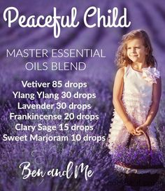 Peaceful Child Master Blend -- help for children with ADHD, Asperger's, Autism, Anxiety, Tourette's, SPD. Try this DIY essential oil blend!
