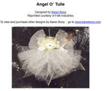 Sew Angels for Christmas and More: Angel O' Tulle