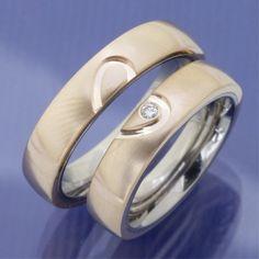 Titan Bronze Herz Trauringe P7123785
