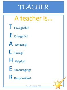 Acrostic Poem Examples for T.E.A.C.H.E.R!