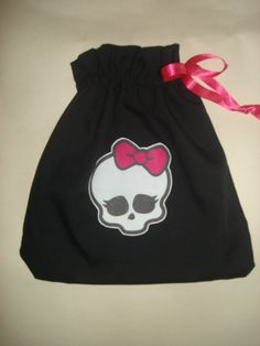 This is a Monster High skull purse on Etsy, but you could make your own and use them as party favor bags.