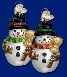 Miniature Mr Snowy Ornament - Assorted Colors - Old World Christmas