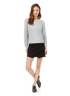 WILFRED LAFORET SKORT - Softly structured and meticulously tailored with asymmetrical panels
