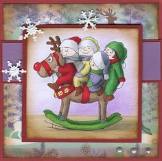Christmas Rocking Tots (U3610) card by Soili-Maria Seppala