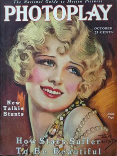 Vintage Magazine Cover - Anita Page - 1929