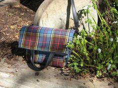 """Black Friday Special! Fold-over messenger bag of authentic Anderson tartan imported from Scotland, approximately 16"""" tall by 13.5"""" wide by TartanQuiltsAndMore on Etsy"""