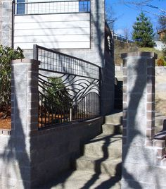 Custom iron fencing, wave - wind pattern