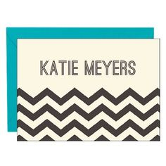 Chevron 4 Bar Stationery | Paper Source