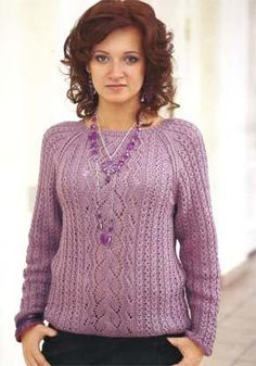 41894ec8688ed2 Allegro laceknit shawl purl alpaca designs. See More. Вязание для женщин.  Ажурный пуловер с рукавом реглан. Модель 116. PostsGalleriesBbRubrics PulloverKnit ...