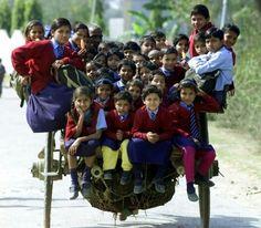 Off to School Overloaded methinks