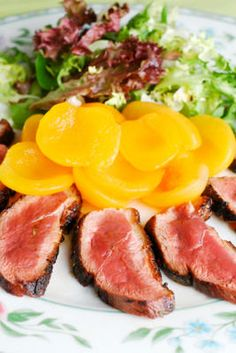 """Barbequed Duck with Peaches 