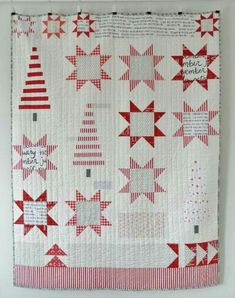 Christmas quilt idea with trees and sawtooth blocks (photo only)