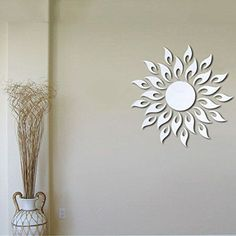 $3.98  - Adarl DIY Crystal Acrylic Mirror Wall Stickers Modern Removable Sun Design Wall Art For Home Decor -- You can find more details by visiting the image link. (This is an affiliate link) #WallStickersMurals