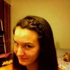 """Learn how to do this hair style on YouTube from fiercelytasha """"Lauren Conrad inspired braided hair band"""""""