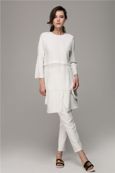 all white layering