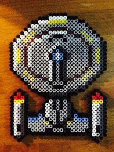 The Starship Enterprise NCC-1701-D - Star Trek perler beads by KandDSanchez