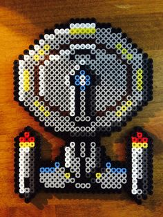 The Starship Enterprise NCC-1701-D - Star Trek perler beads by KandDSanchez