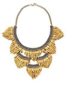 Deepa gurnani Fringed Layered Necklace on shopstyle.com