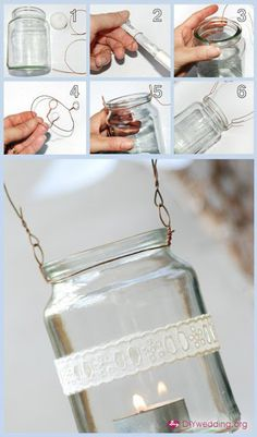 Hanging candle