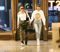 Gigi and Bella Hadid out in New York, June 14th.