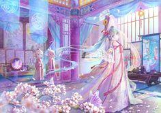 前世今生-前生 - miku, cute, lovely, twin, vocaloids, cherry, anime girl, japanese, hatsune, len, sweet, vocaloid, kagamine, petals, twins, yukata, blue hair, pretty, aqua hair, female, girl, nice, rin, miku hatsune, sakura, long hair, fan, cherry blossom, twin tail, kagamine rin, beautiful, pink, japan, hatsune miku, adorable, kimono, twin tails, beauty, anime, kawaii, twintails, kagamine len, sakura blossom, twintail, dress