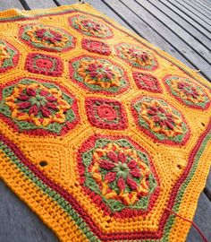 RubyRed Eclectic: WIP - Spanish Tiles Cushion Cover.  The pattern is from the book 50 Sensational Crochet Afghans & Throws by the The Needlecraft Shop.