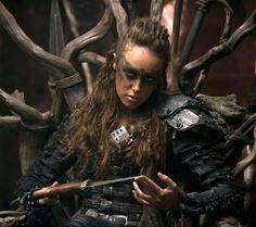 Lexa/Heda (Leksa kom Trikru (Lexa of the Woods Clan) played by  Alycia Debnam-Carey
