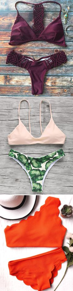 Shop trendy fashion swimwear online, you can get sexy bikinis, swimsuits & bathing suits for women on ZAFUL. The Bikini, Bikini Set, Cute Bathing Suits, Summer Suits, Cute Swimsuits, Summer Bikinis, One Piece Swimwear, Bikini Fashion, Beachwear