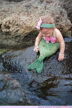 """I want my sweet nieces to take a picture like this!! Elly, Logan and my """"adopted"""" niece, Kiran would be the cutest little mermaids EVER!!"""