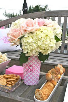 cute monogram vase