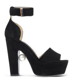 485e8b41930f Nicholas Kirkwood Black Suede Pearl Sandal Pearl Sandals