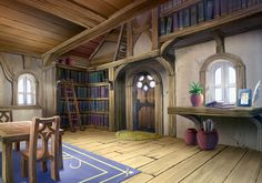 Holt House Interior Art Disgaea 2: Cursed Memories Art Gallery Anime places Fantasy house Anime scenery wallpaper
