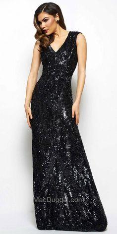 Fully Sequined Sleeveless Evening Dress by Mac Duggal #edressme