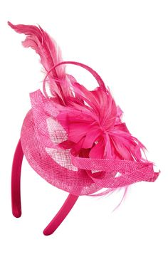 Super cute fascinator headband - Great for a Kentucky Derby Party! The pink will add a pop of color to any party dress.