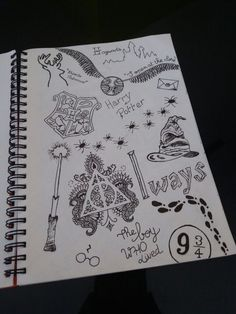 Ideas Quotes Tattoo Ideas Harry Potter For 2019 Harry Potter Journal, Harry Potter Kunst, Harry Potter Sketch, Harry Potter Drawings, Theme Harry Potter, Harry Potter Facts, Harry Potter Quotes, Harry Potter Diy, Harry Potter Tattoos