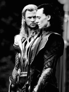 Loki and Thor. Might want to draw that. Not me though. I can't draw for my life.