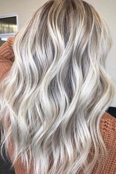 Try easy Vanilla Champagne Hair Color 125188 Champagne Blonde Hair Color Pccheatz ideas using step-by-step hair tutorials. Bright Blonde Hair, Blond Ombre, Brown Blonde Hair, Platinum Blonde Hair, Blonde Color, Ombre Hair, Blonde Balayage, Light Ash Blonde, Icy Blonde
