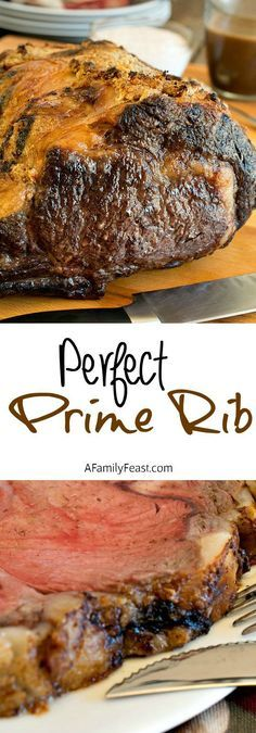 How to cook Perfect Prime Rib - We share tips and tricks learned in culinary school so you can make perfectly cooked Prime Rib at home! More Prime Rib Perfect Prime Rib Beef Dishes, Food Dishes, Main Dishes, Rib Recipes, Cooking Recipes, Cooking Corn, Diner Recipes, Cooking Pumpkin, Game Recipes