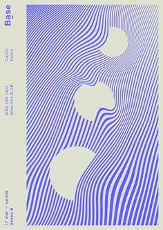 抽象極簡的電子音樂宣傳海報 | MyDesy 淘靈感