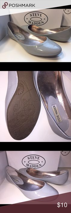 9.5 Grey Steve Madden flats Worn only a couple times and then broke my toe and couldn't wear. Just found again cleaning my closets! These are in good condition, grey patten, and bought at Steve Madden store. Steve Madden Shoes Flats & Loafers