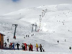 Kaimaktsalan ski resort in Mt Voras, at 2,500m altitude, operating from late November till early May