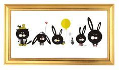 Bunny illustration Nursery Room Bunny Wall Art Art by krize