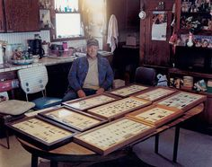 © courtesy of Peter Brown. Benny Clawson and his Point Collection, Yuma, Colorado, 2005