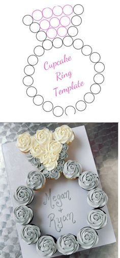Wedding Shower Cupcakes, Bridal Shower Party, Bridal Shower Invitations, Bride Cupcakes, Engagement Party Cupcakes, Bridal Shower Recipes, Bridal Shower Treats, Wedding Dress Cupcakes, Bridal Shower Favors Diy